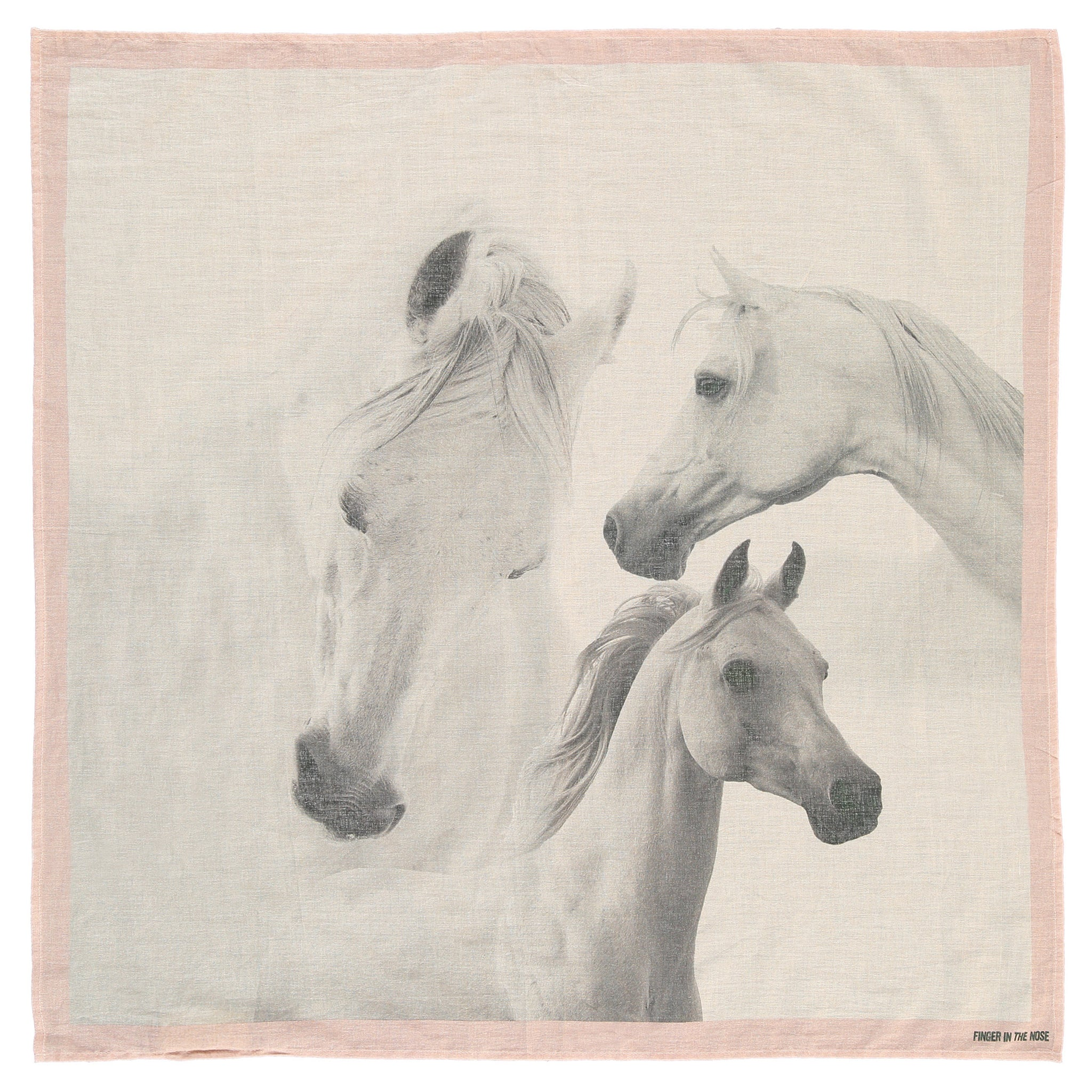 MISCHA Flow Pink Horses - Unisex scarf by Finger in the Nose