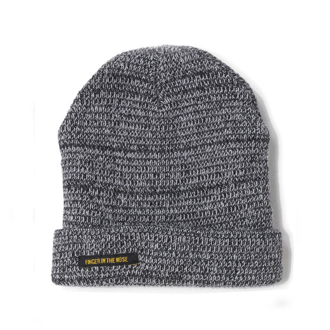 NAGANO Heather Black -  Heavy Knitted Beanie