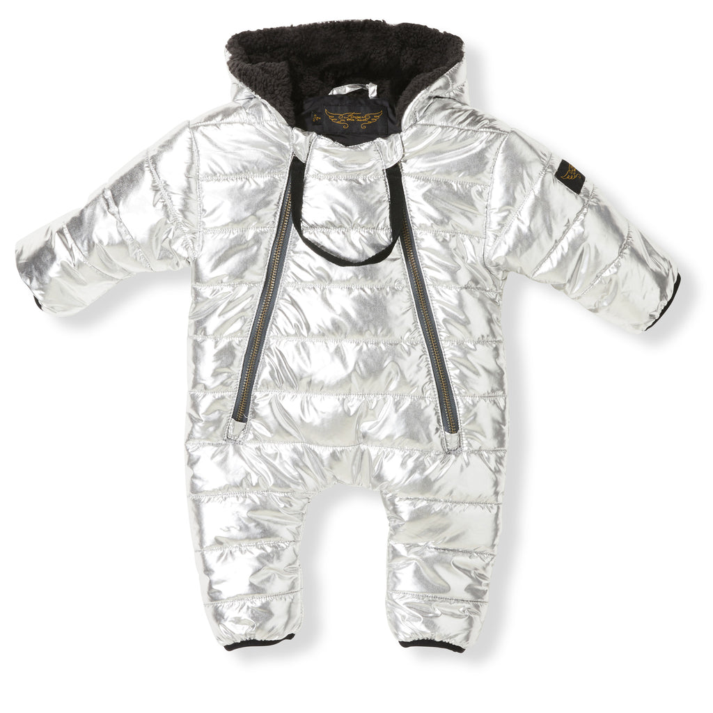 552ae0150 NEST Silver - Baby Woven Pramsuit – Finger in the nose