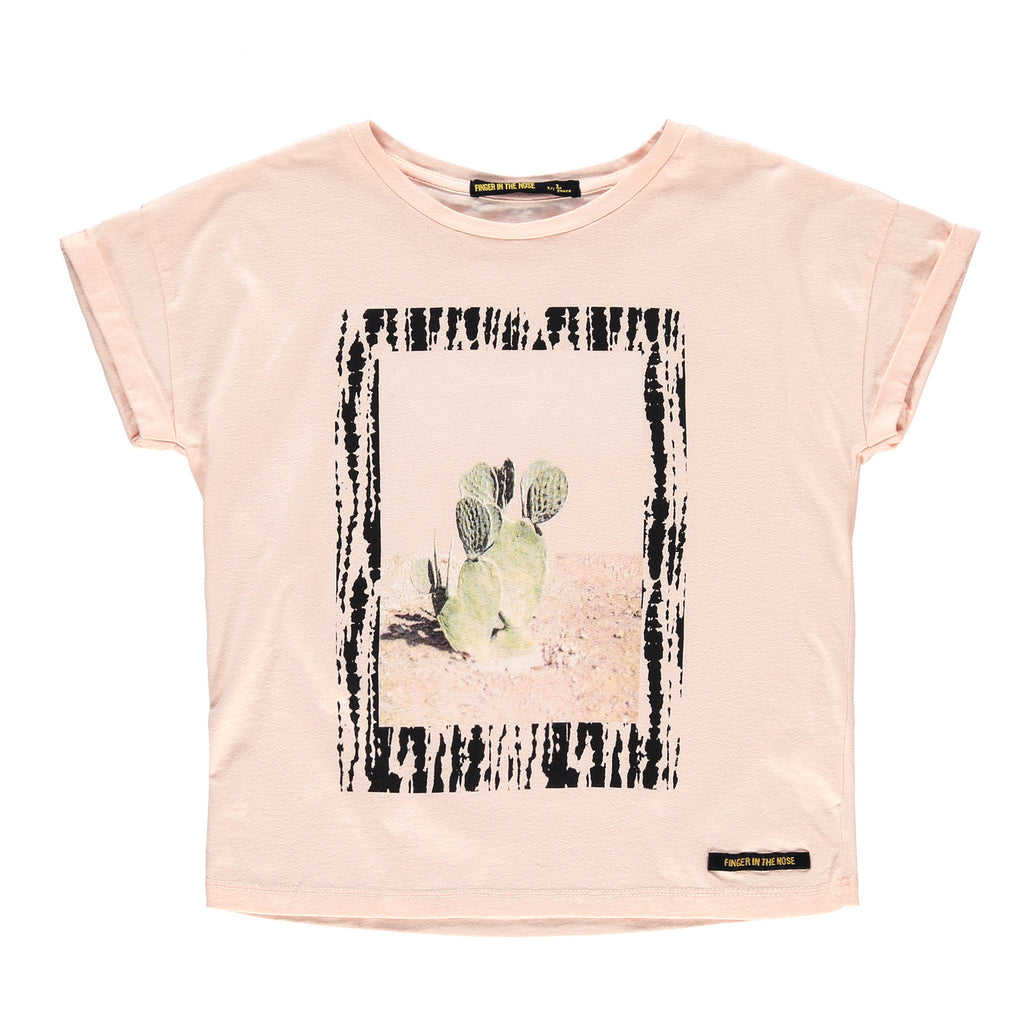 NEW BRITNEY Flow Pink Cactus - Girl Short Sleeves T-Shirt