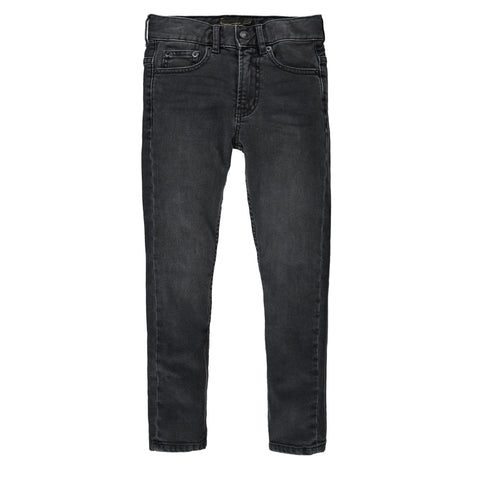 NEW NORTON Black Denim - Boy 5 Pocket Straight Fit Jeans