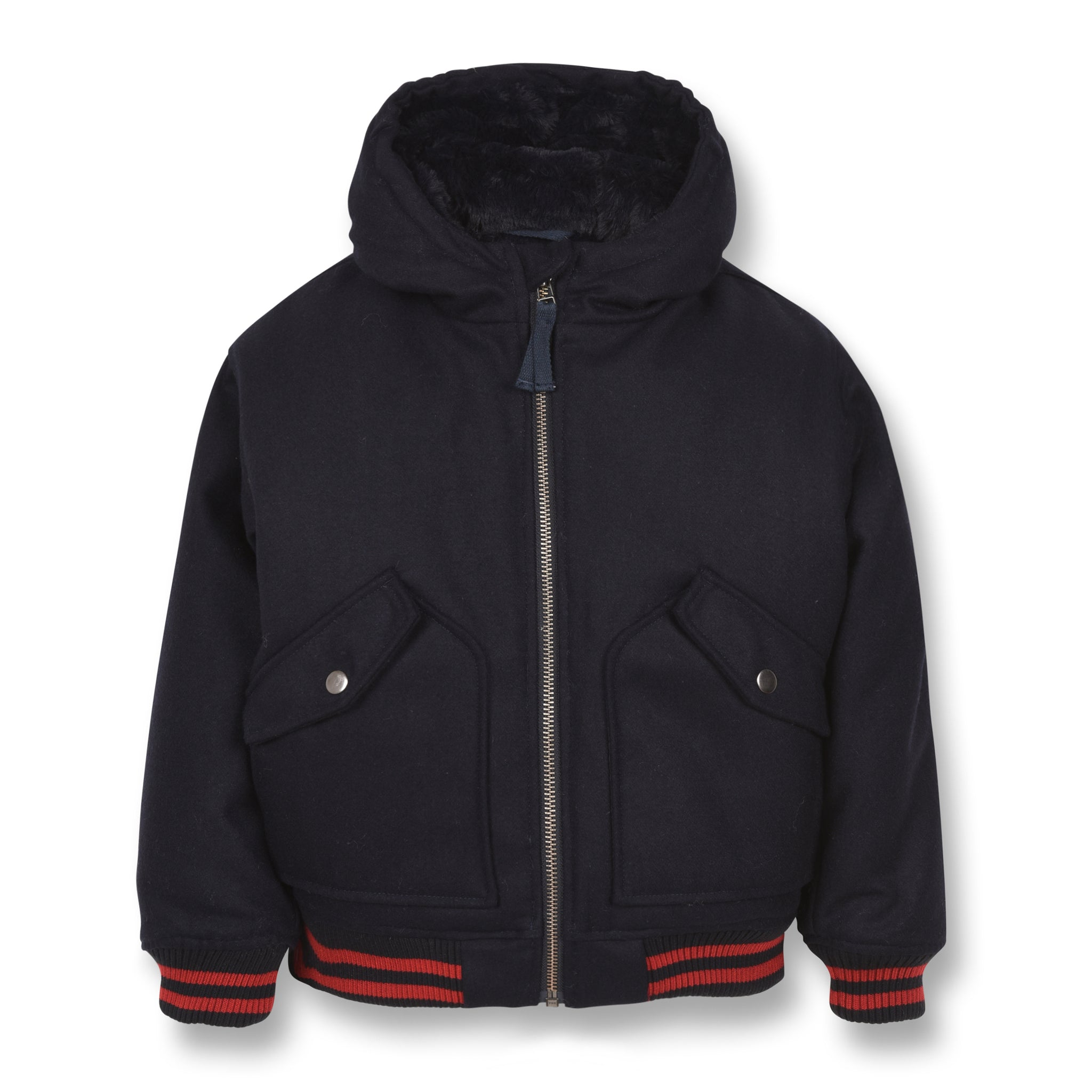 NEW BALTIMORE Sailor Blue - Hooded Bomber Jacket 1