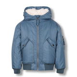 NEW BALTIMORE Stone Blue-Zipped Hooded Jacket 1