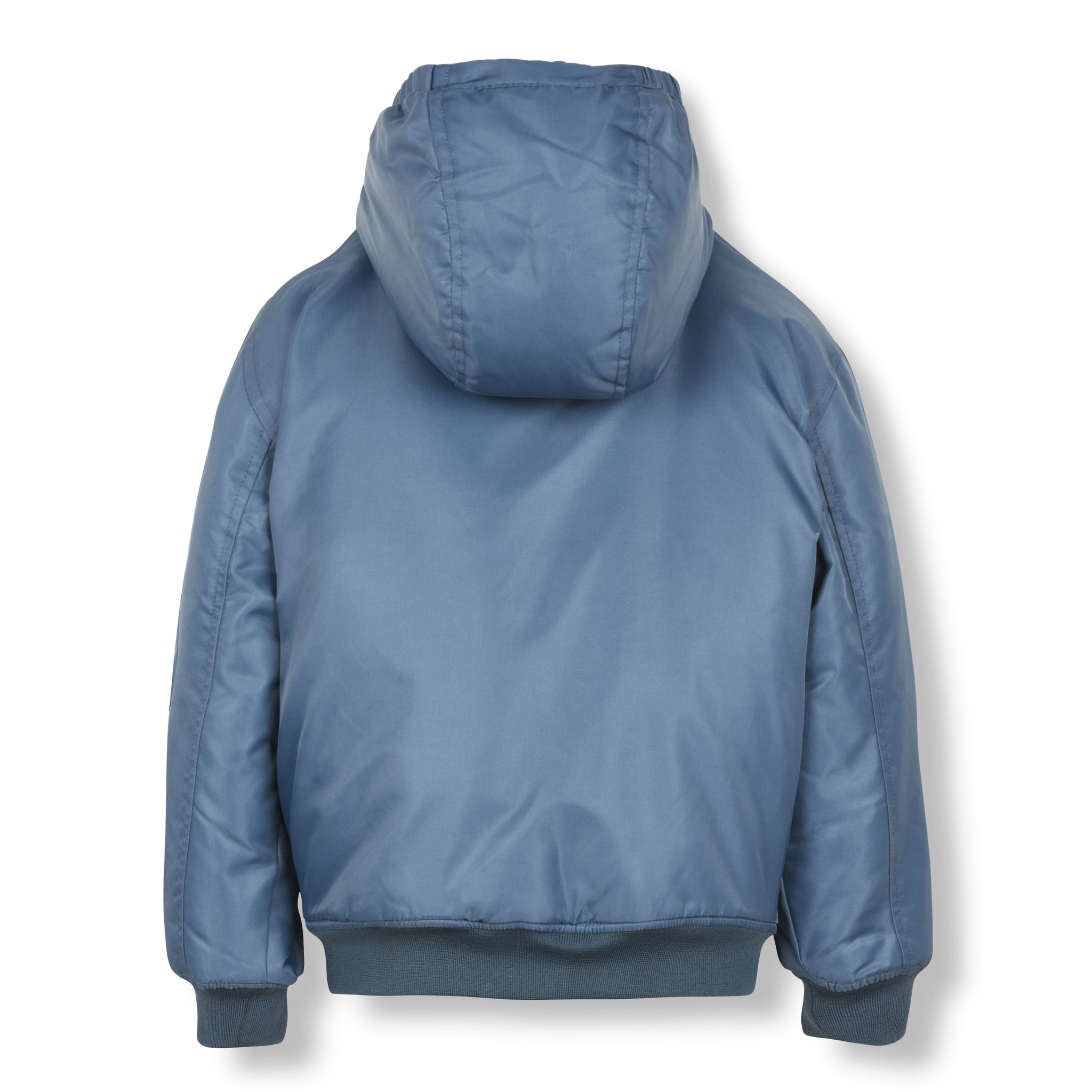 NEW BALTIMORE Stone Blue-Zipped Hooded Jacket 3