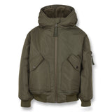 NEW BALTIMORE Khaki - Hooded Bomber Jacket