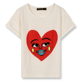 NEW BRITNEY Ecru Heart - Short Sleeves T-Shirt 1