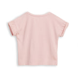 NEW BRITNEY Pale Pink Parrots - Short Sleeves Tee-Shirt 2