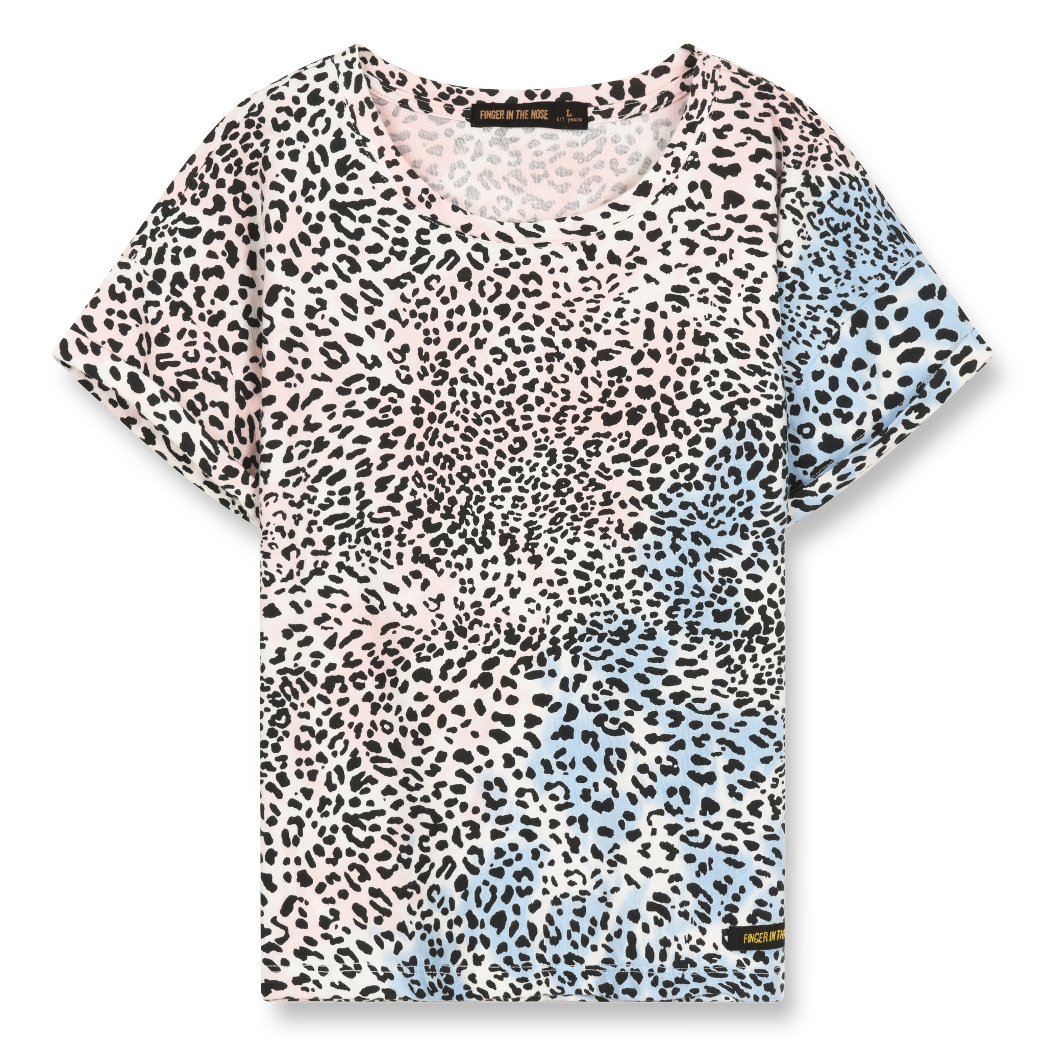 NEW BRITNEY Wave Blue/Pink Leopard - Short Sleeves T-Shirt 1