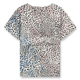NEW BRITNEY Wave Blue/Pink Leopard - Short Sleeves T-Shirt 3