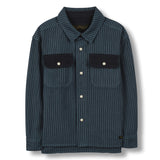 NEW DUSK Dark Blue Stripes - Long Sleeves Shirt 1
