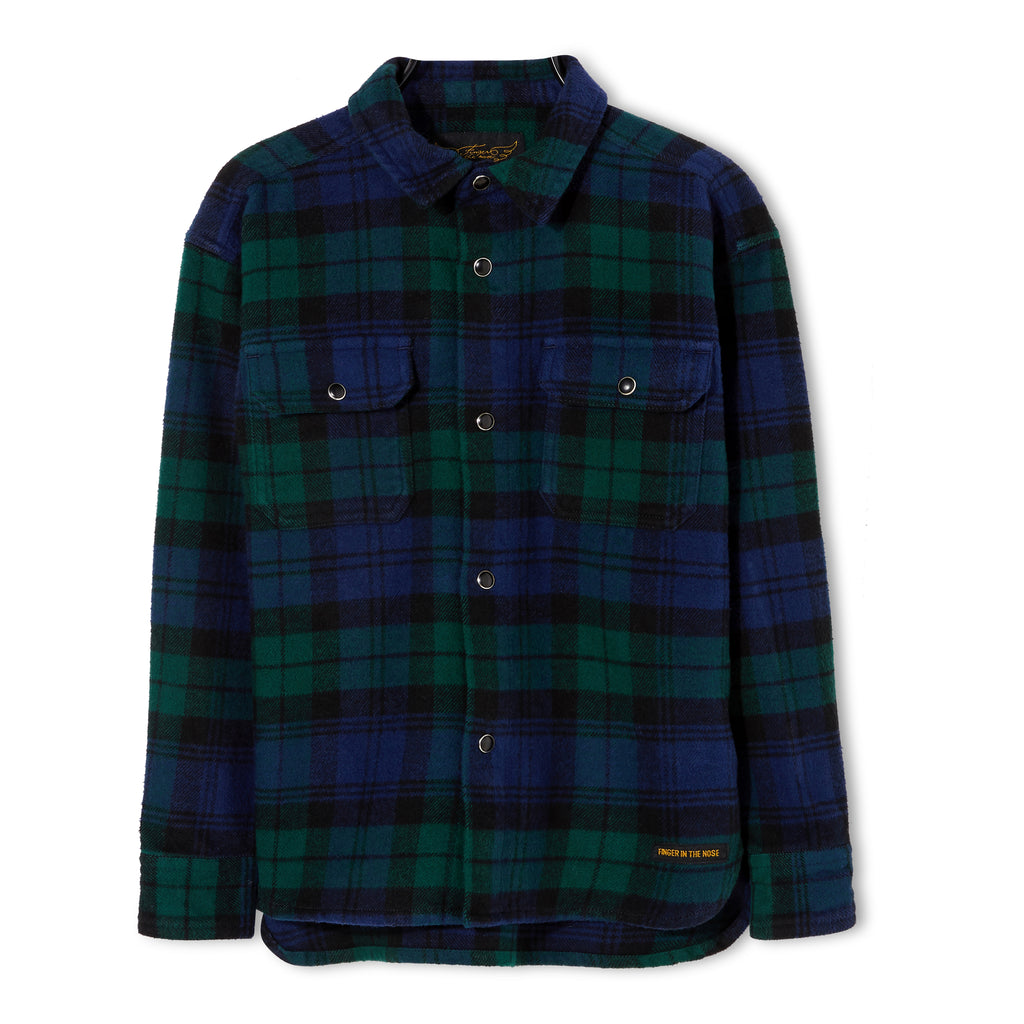 NEW DUSK Navy Checks - Long Sleeve Shirt 1