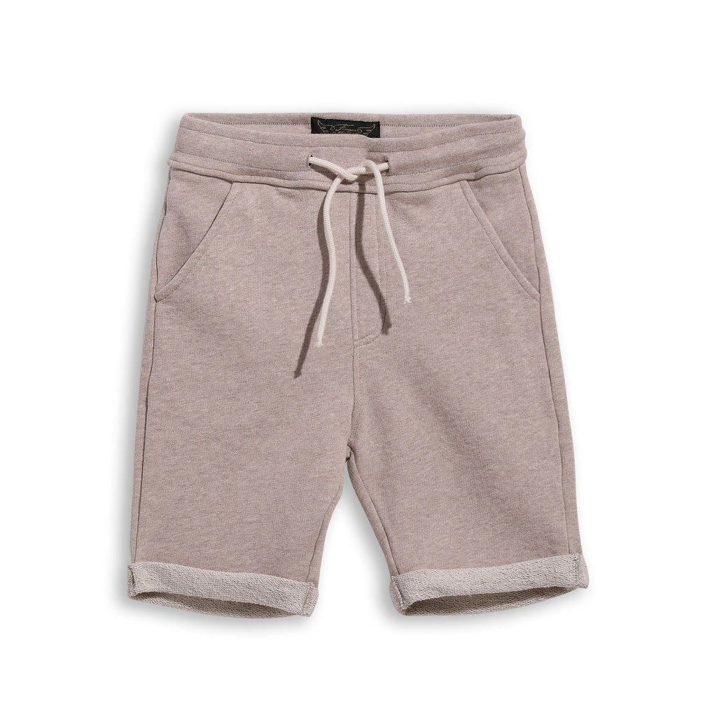 NEW GROUNDED Heather Sand - Comfort Fit Fleece Bermuda