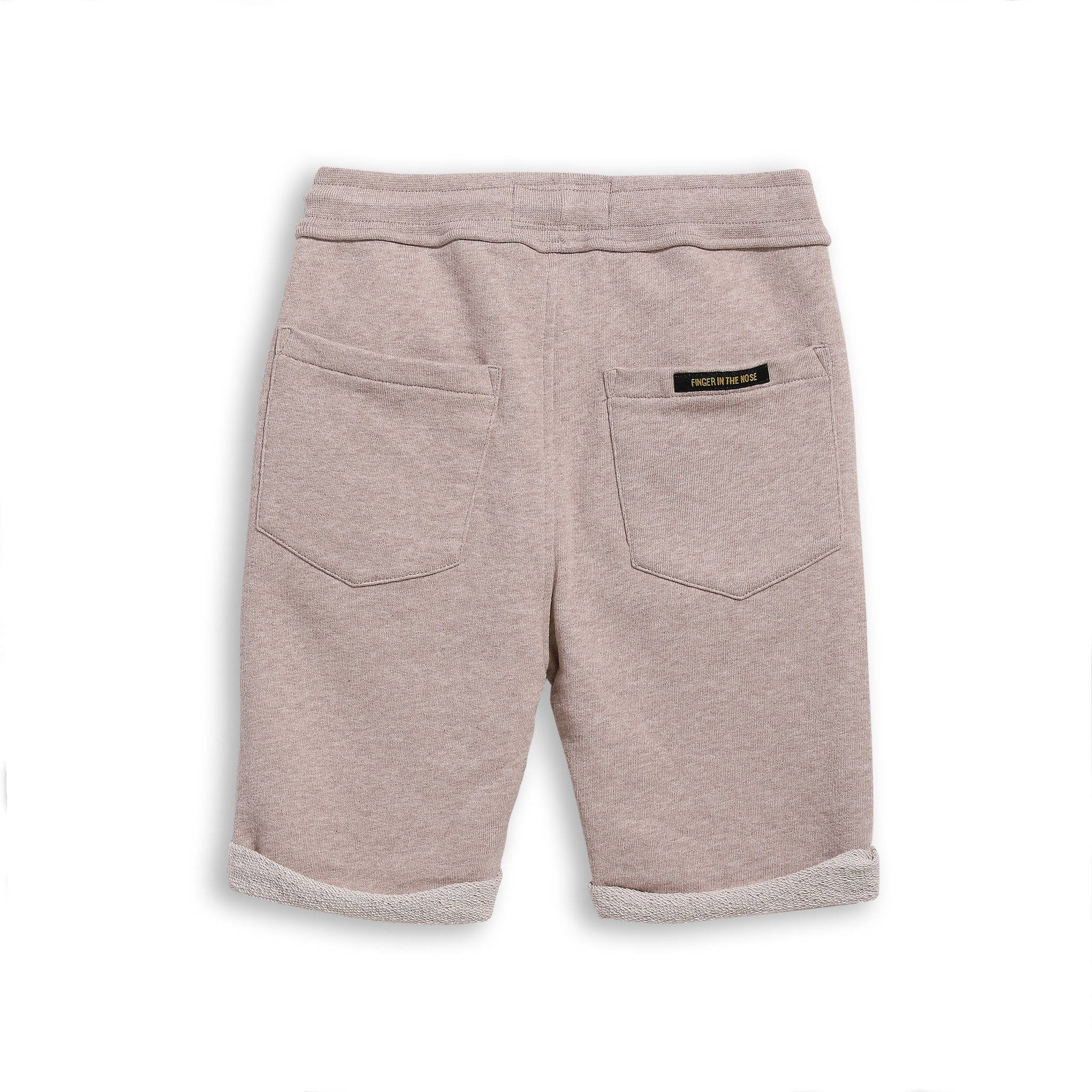 NEW GROUNDED Heather Sand - Comfort Fit Fleece Bermudas 2