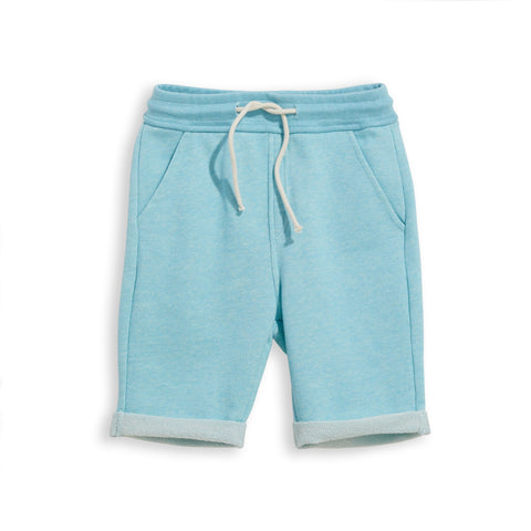 NEW GROUNDED Heather Sun Blue -  Comfort Fit Fleece Bermudas 1