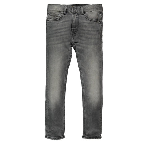 NEW NORTON Dirty Grey Denim - Boy 5 Pocket Straight Fit Jeans