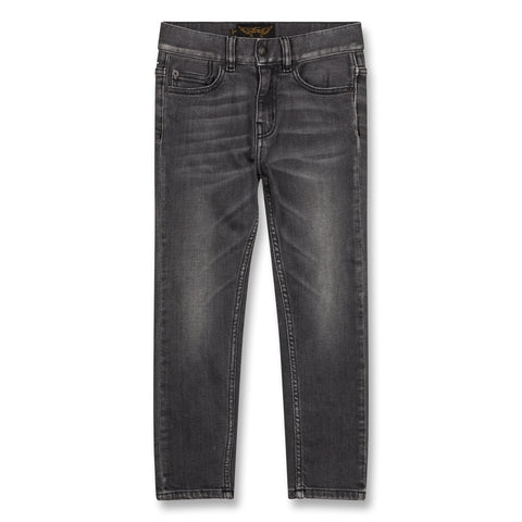 NEW NORTON Grey Denim - Boy Woven 5 Pocket Straight Fit Jeans 1