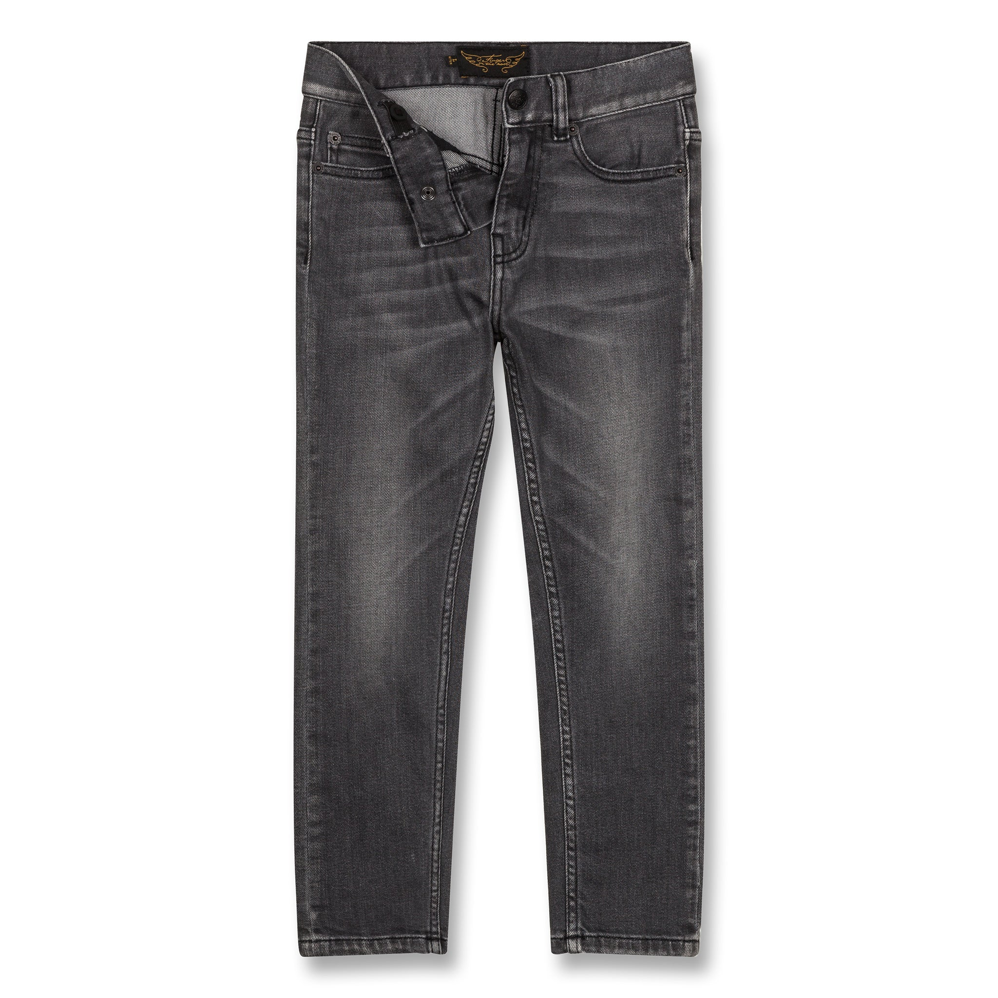 NEW NORTON Grey Denim - 5 Pocket Straight Fit Jeans 2