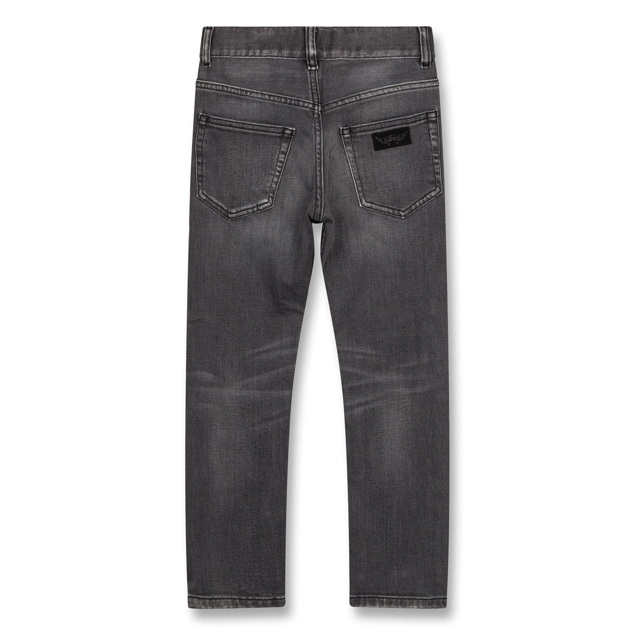 NEW NORTON Grey Denim - 5 Pocket Straight Fit Jeans 3