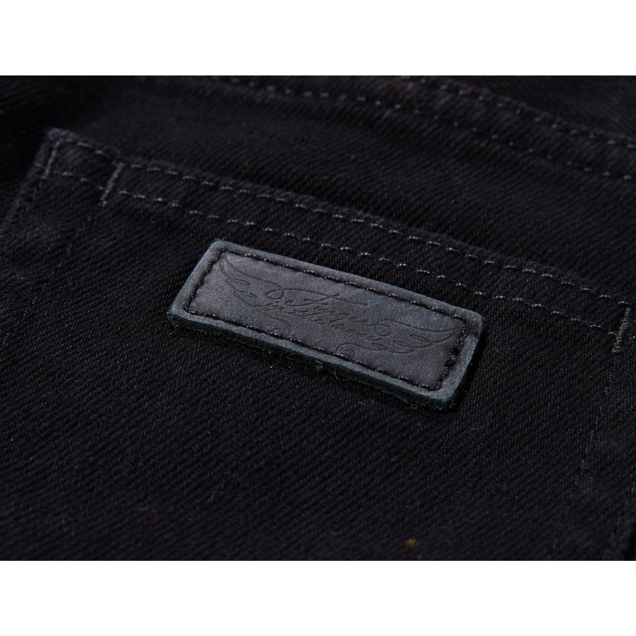 NEW NORTON Raw Black - 5 Pocket Straight Fit Jeans 5