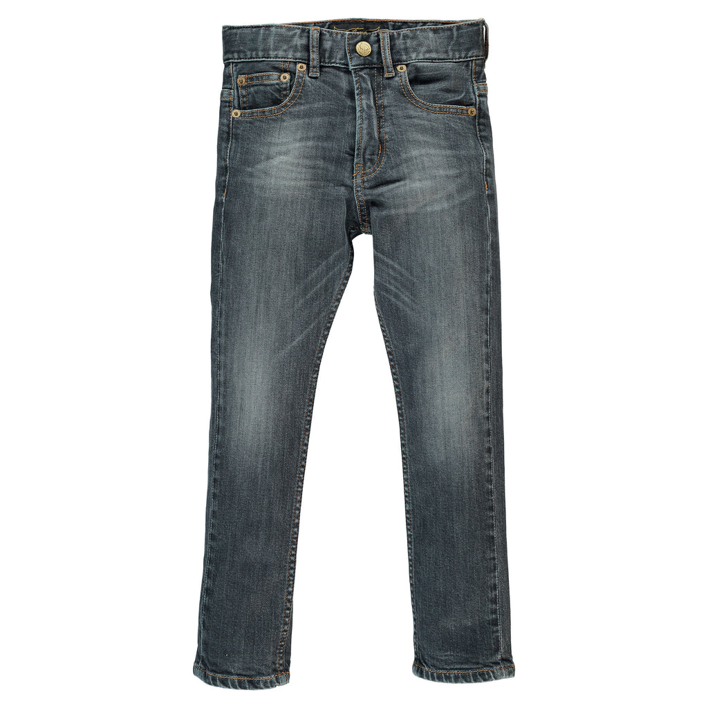 NEW NORTON Stone Black - 5 Pockets Straight Fit Jeans