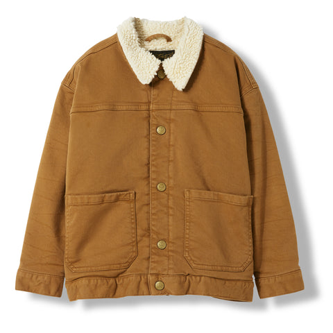 NEW ROAD Caramel -  Woven Denim Jacket 1
