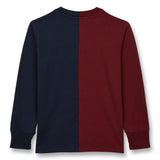 NICO Burgundy/Sailor BlueCollage - Long Sleeves T-Shirt