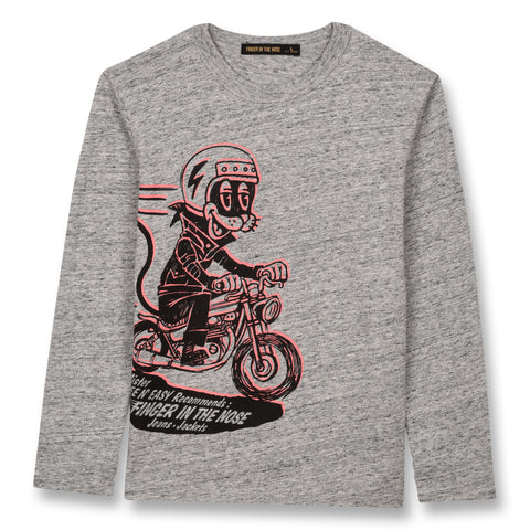 NICO Heather Grey Cool Cat - Long Sleeves T-shirt 1