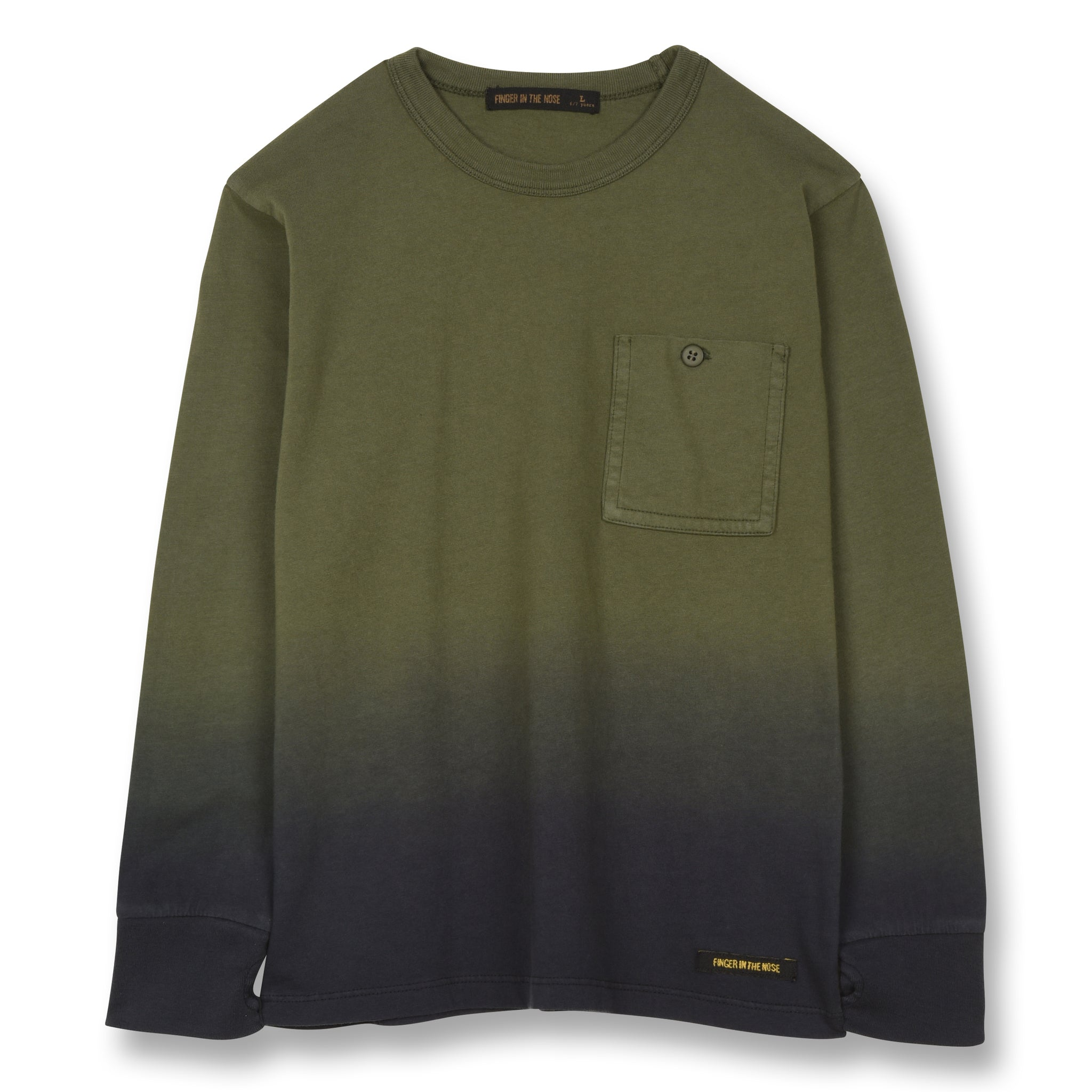 NICO Khaki Dip Dye - Long Sleeves T-shirt 1