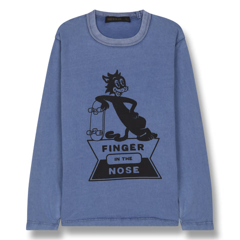 NICO Kraft Blue Skate Cat - Long Sleeves T-shirt 1