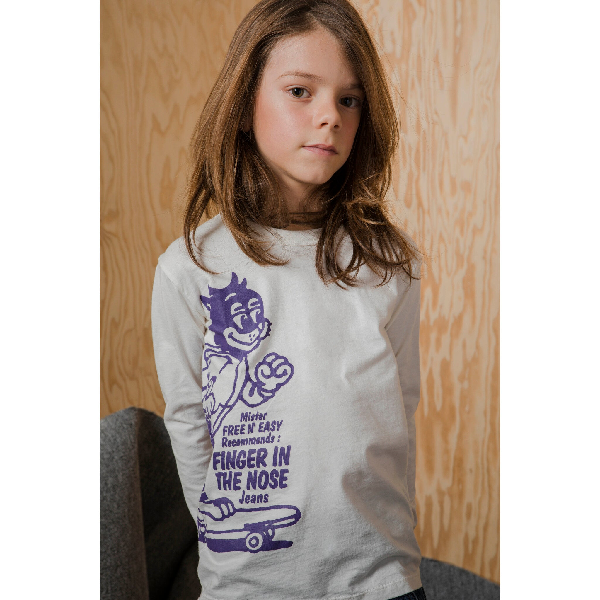 NICO Off White Skate Cat - Long Sleeves T-shirt