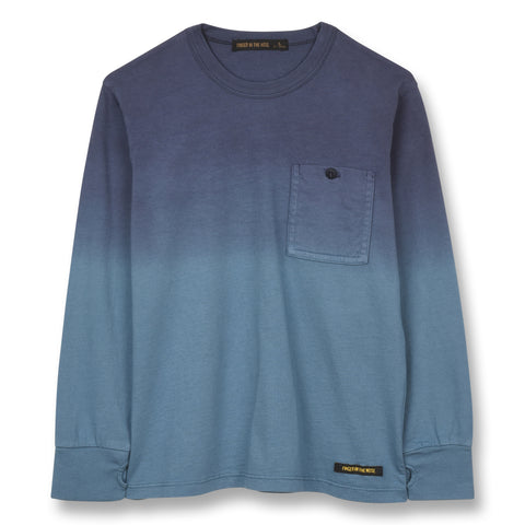 NICO Stone Blue Dip Dye - Long Sleeves T-shirt 1