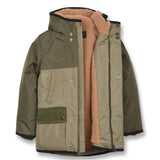 NORDFOLK Khaki/Light Khaki - Ripstop Parka with Faux Fur