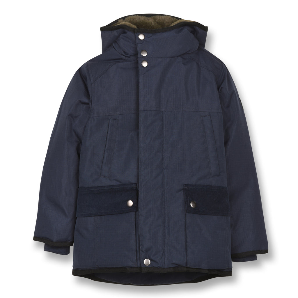 NORDFOLK Sailor Blue -Ripstop Parka with Faux Fur 1