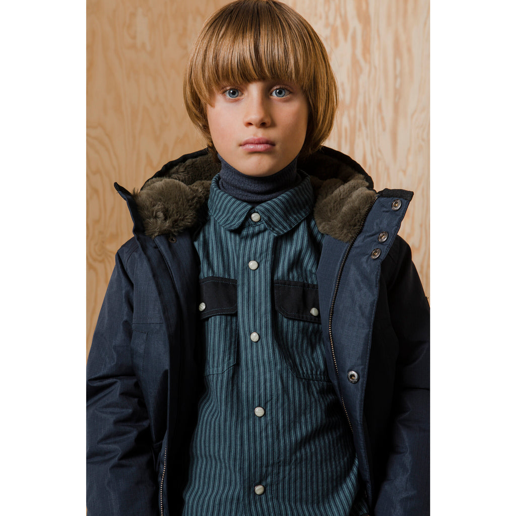 NORDFOLK Sailor Blue - Ripstop Parka with Faux Fur