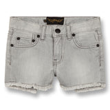 NOVA Bleached Grey Fringes - 5 Pocket Mini Shorts 1
