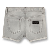 NOVA Bleached Grey Fringes - 5 Pocket Mini Shorts 3