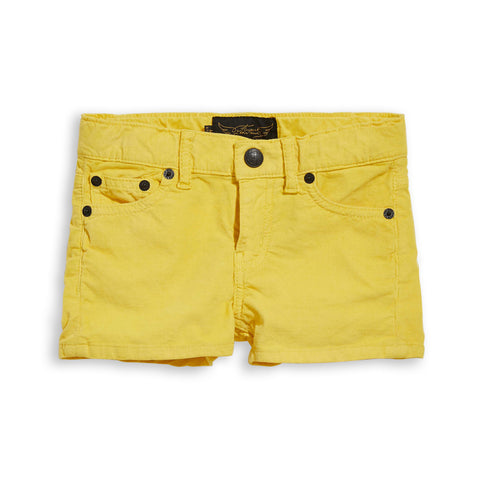 NOVA Yellow Cord - 5-Pocket Mini Shorts