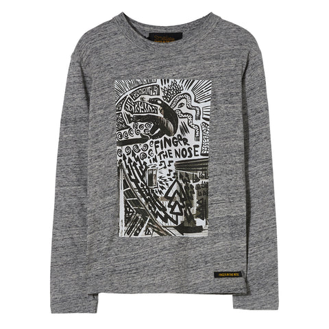 NICO Heather Grey Street - Long Sleeve Jersey T Shirt