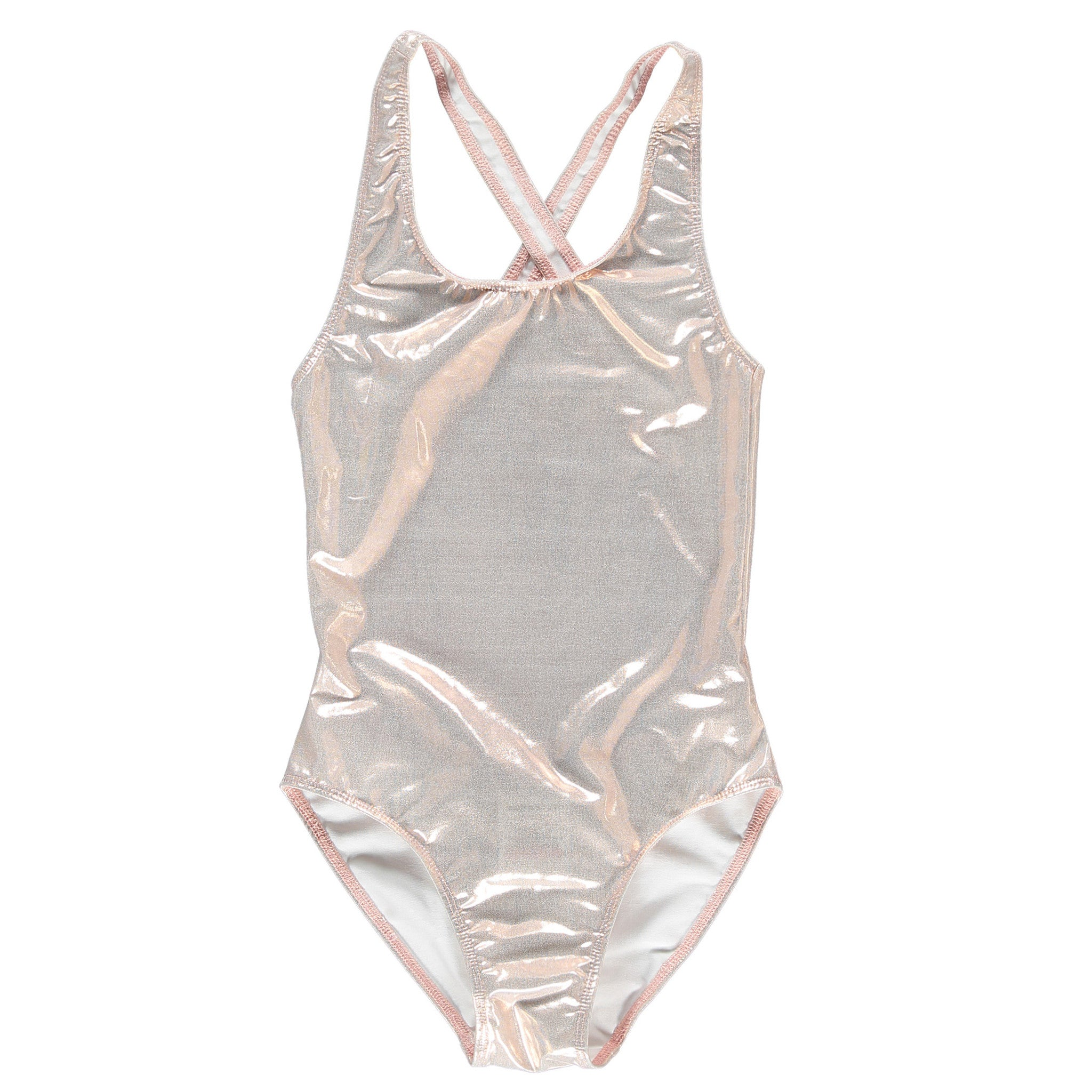 OLIVIA Copper pink Metal - Girl Swimsuit