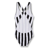 OLIVIA Black Flash Stripes - Swimsuit 3