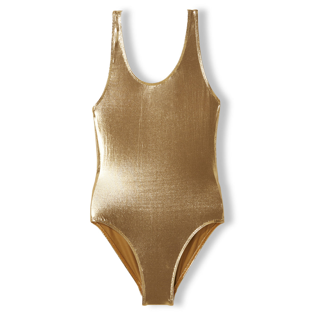 OLIVIA Gold Metal - Girl Knitted Swimsuit 1