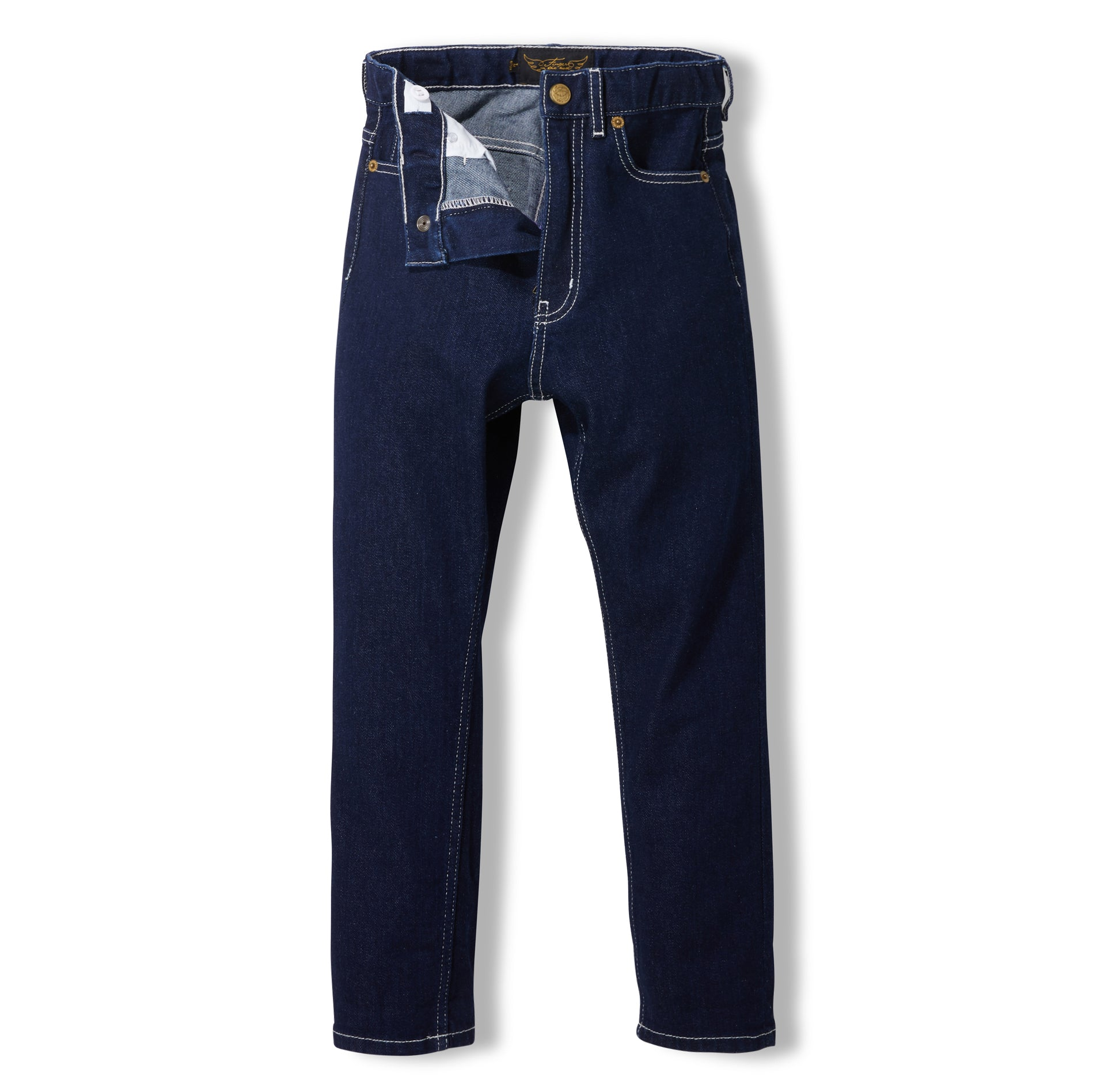 OLLIBIS Raw Denim Blue -  Woven 5 Pockets Tapered Fit Jeans