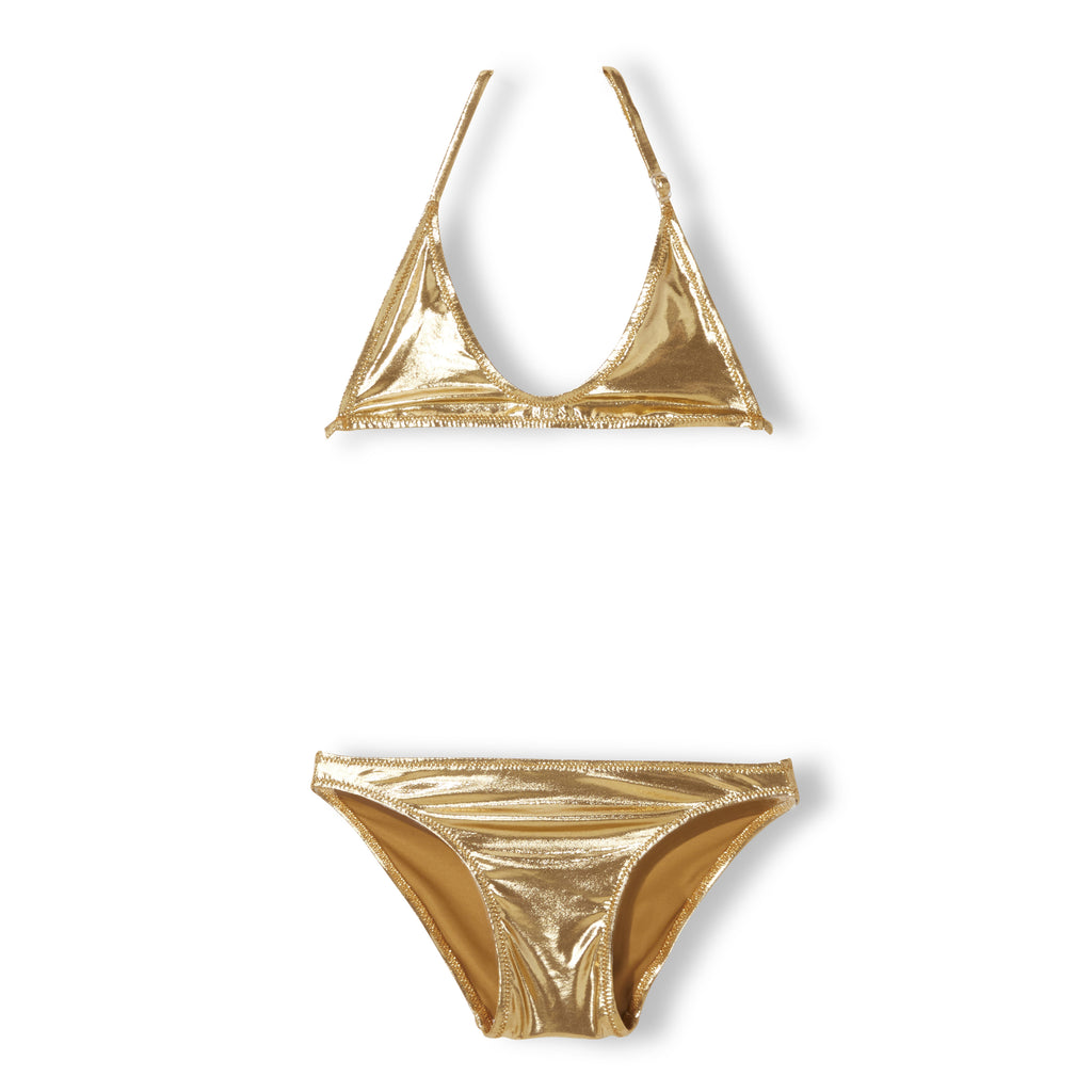 PAMELETTO Gold Metal - Girl Knitted Triangle Bikini 1
