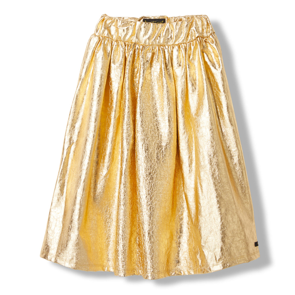 PARTY Gold Metal -  Knitted Long Skirt 1
