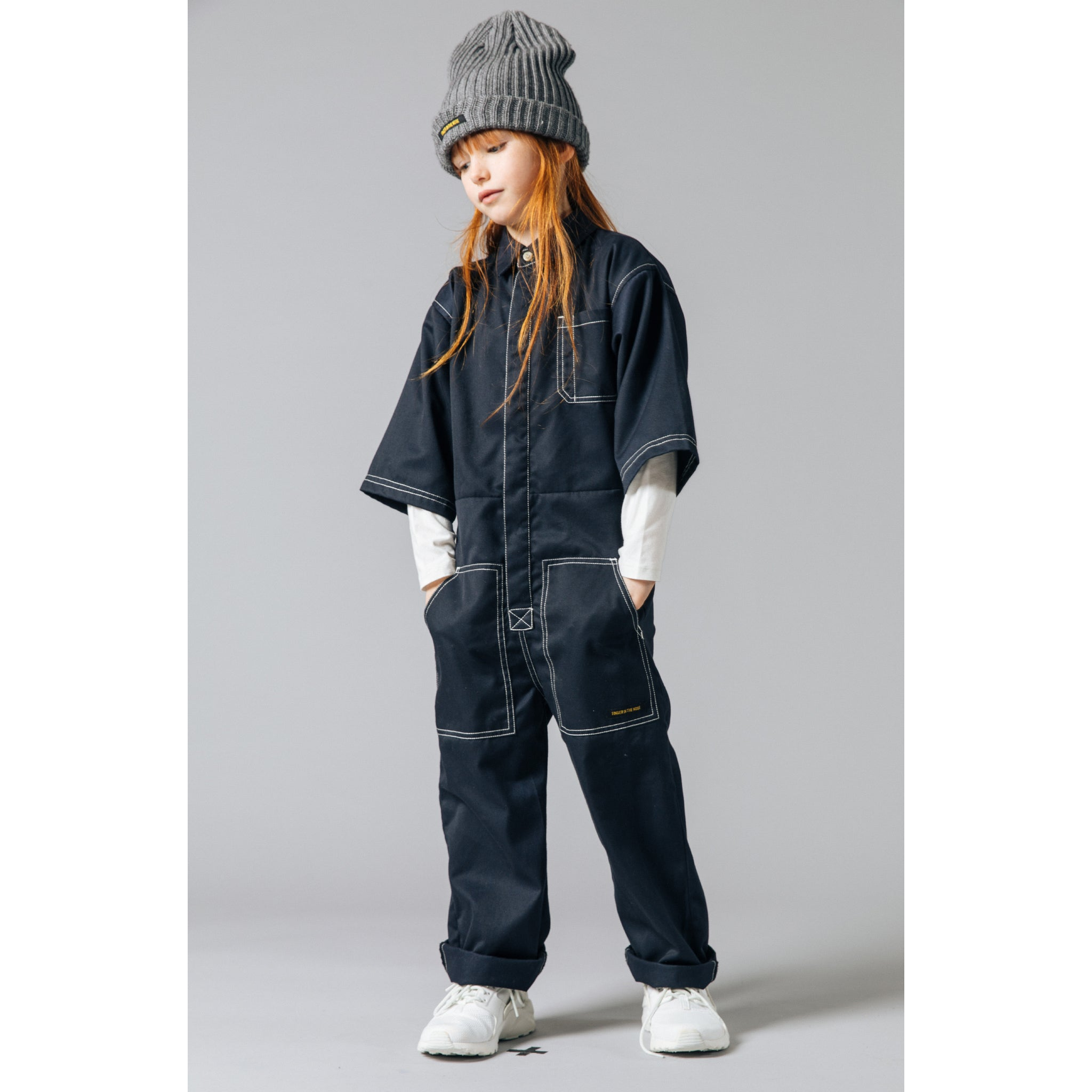 PENCIL Night Blue -  Woven Oversized Overall 2