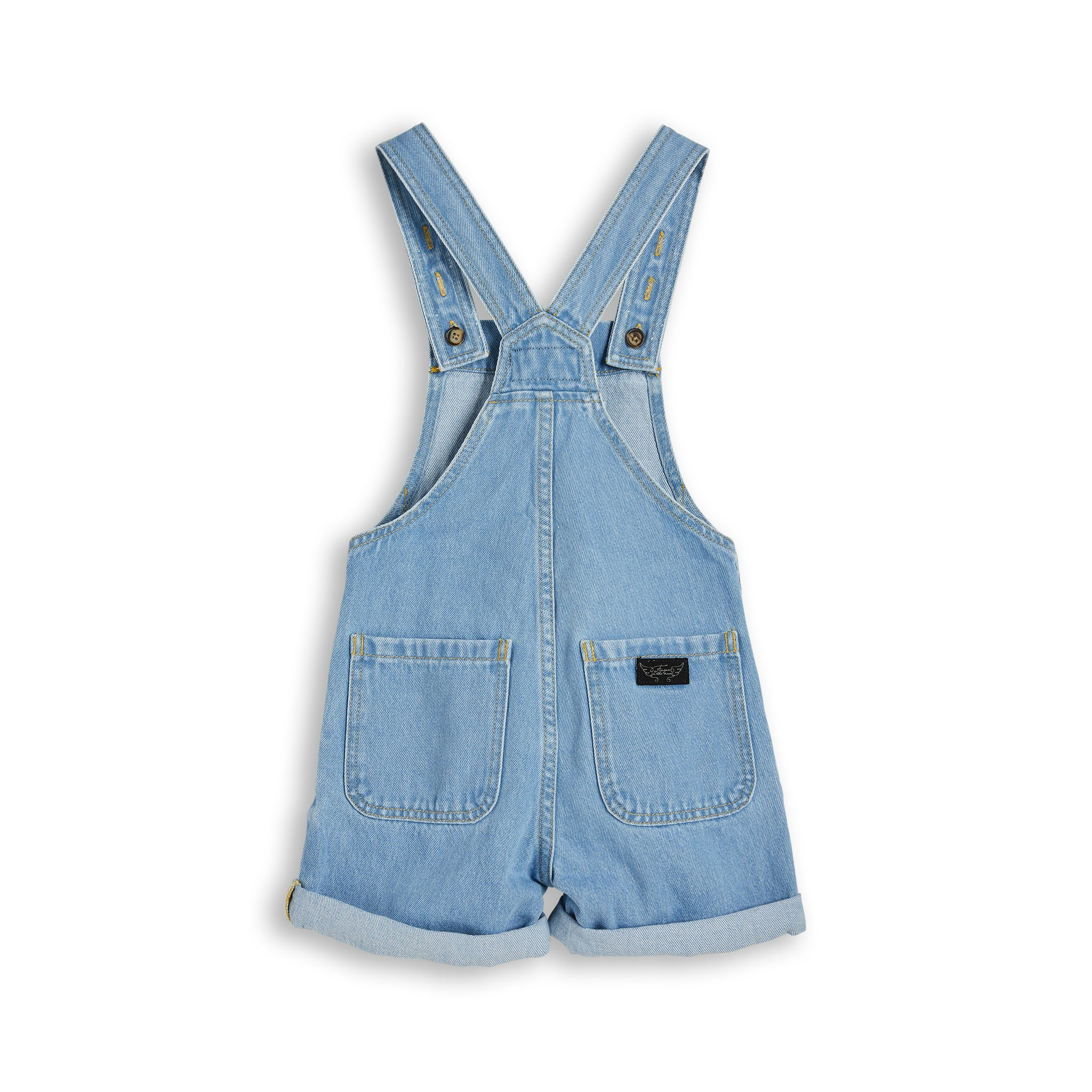 PHOEBE Bleached Blue - Denim Short Overall 2