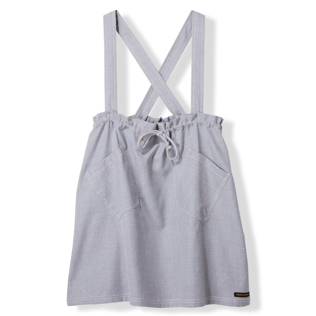 PINAFORE Heather Grey -  Woven Apron Dress 1