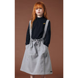 PINAFORE Heather Grey -  Woven Apron Dress 2