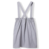 PINAFORE Heather Grey -  Woven Apron Dress 3