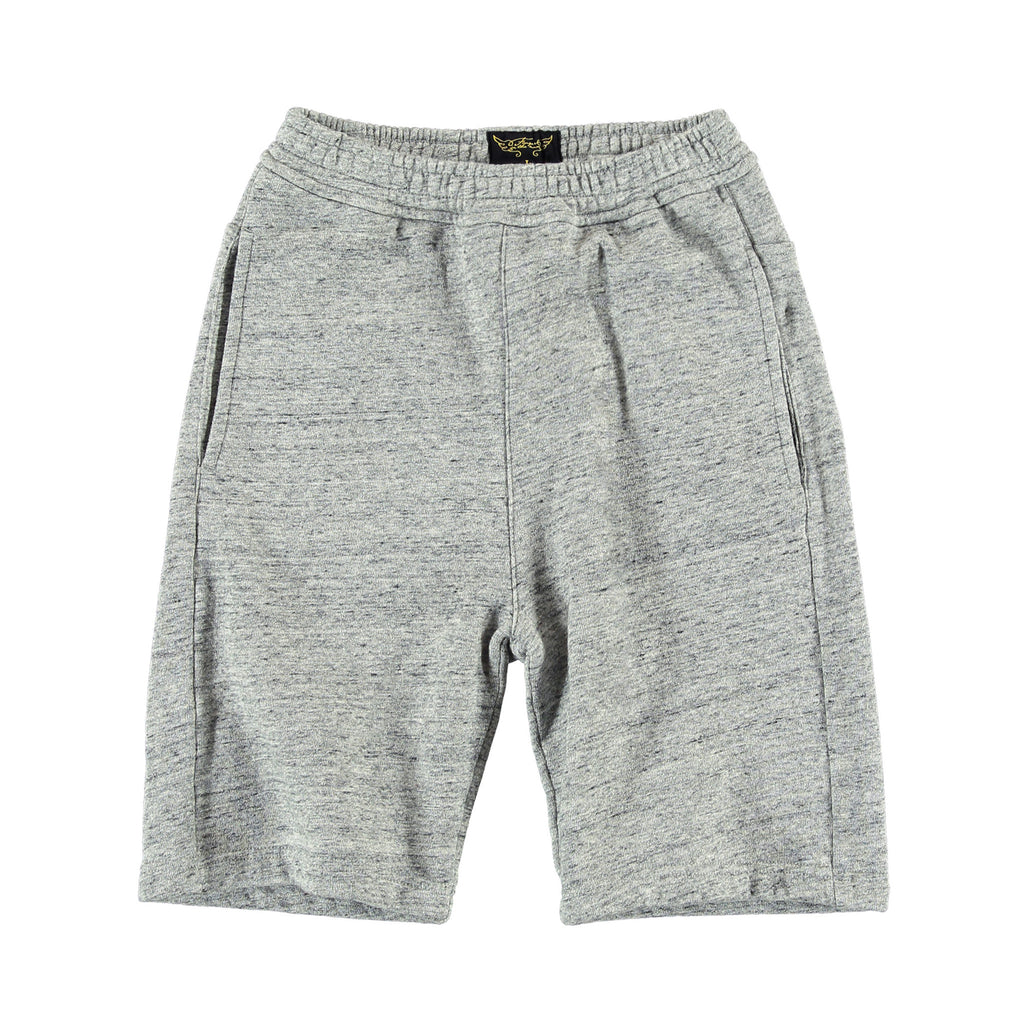 "PLAYER Heather Grey - Boy ""Basketball"" Fleece Short"